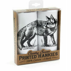 Pack of 2 Fox Cotton Handkerchiefs