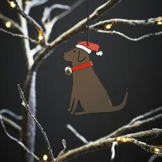 Sweet William Chocolate Labrador Christmas Decoration