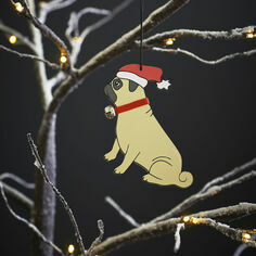 Sweet William Pug Christmas Decoration