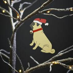 Sweet William Pug Christmas Decoration
