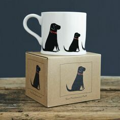 Sweet William Black Labrador Mug
