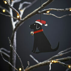 Sweet William Black Labrador Christmas Decoration