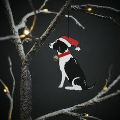 Sweet William Black and White Springer Spaniel Christmas Decoration