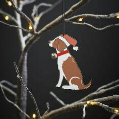 Sweet William Liver and White Springer Spaniel Christmas Decoration