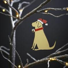 Sweet William Yellow Labrador Christmas Decoration