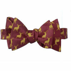Fox & Chave Stag Silk Bow Tie