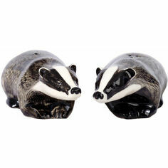 Quail Ceramics Badger Salt and Pepper Shaker Pots