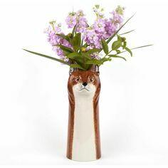 Large Fox Flower Vase