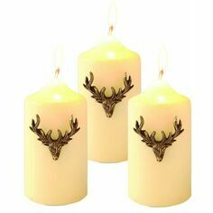 Culinary Concepts Stag Candle Jewellery - Set Of 3 - Vintage Gold