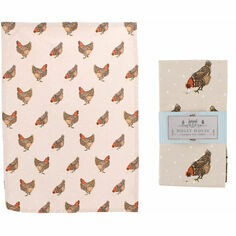 Holly House Chicken Cotton Tea Towel
