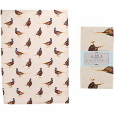 Holly House Pheasant Cotton Tea Towel
