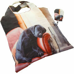 Sleeping Labrador Fold Away Bag