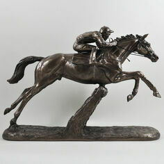 The Hurdler Cold Cast Bronze Sculpture