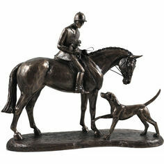Country Companions Cold Cast Bronze Sculpture