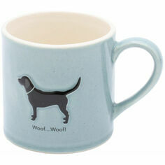 Bailey & Friends Black Labrador Mug in Blue