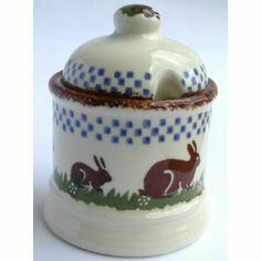 Brixton Pottery Rabbit Jam Pot