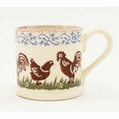 Brixton Pottery Cock & Hen Mug