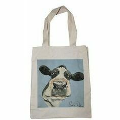 Caroline Walker 'Molly' Cow Canvas Bag