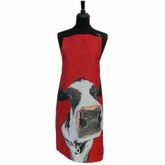 Caroline Walker 'Honey' Red Cow Apron