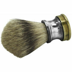 English Pewter Shooting Cartridge Shaving Brush