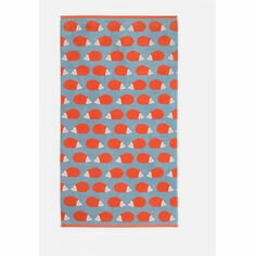 Anorak Kissing Hedgehogs Bath Towel - Stone Blue/Orange