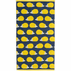 Anorak Kissing Hedgehogs Hand Towel - Yellow/Navy
