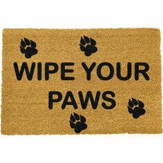Coir \'Wipe Your Paws\' Doormat