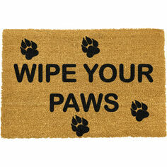 Artsy Coir 'Wipe Your Paws' Doormat
