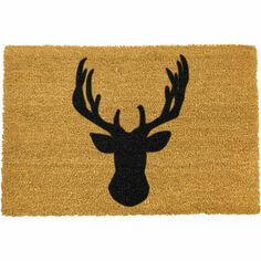 Coir Stag Head Silhouette Doormat