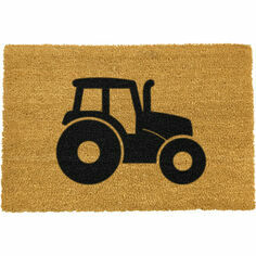 Artsy Coir Tractor Silhouette Doormat