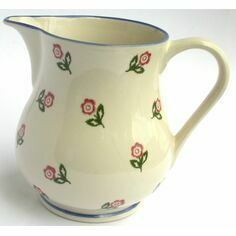 ECP Design Brixton Pottery Scattered Rose Jug