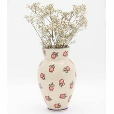 Brixton Pottery Scattered Rose Medium Vase