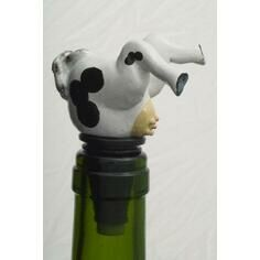 Cow Bottle Stopper / Wine Saver