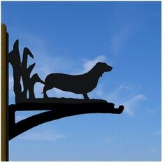 Dachshund Hanging Basket Bracket