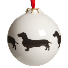 Victoria Armstrong Dachshund Bauble