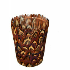 Pheasant Feather Tealight Holder