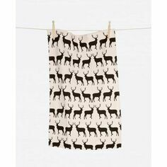 Anorak Kissing Stag Set of 2 Tea Towels