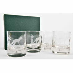 Set of 4 Fox Glass Tumblers