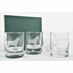 Set of 4 Labrador Glass Tumblers