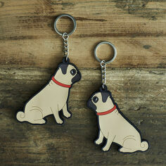 Sweet William Pug Key Ring