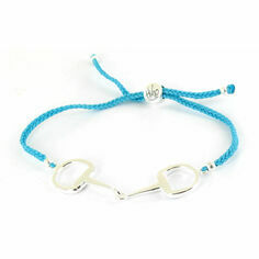 Hiho Silver Sterling Silver Snaffle Friendship Bracelet Turquoise