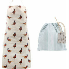 Holly House Pheasant Cotton Apron