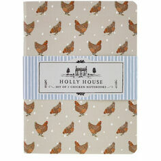 CGB Giftware Holly House Set of 2 Chicken Notebooks