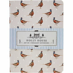 Holly House Set of 2 Pheasant Notebooks