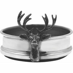 English Pewter Stag Bottle Coaster