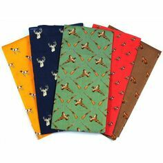 Soprano 5 Colourful Luxury Country Themed Handkerchiefs