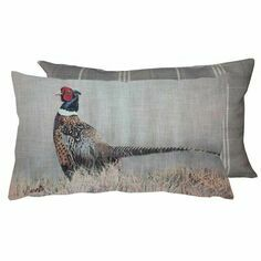 Grays Pheasant Grey Tweed Cushion