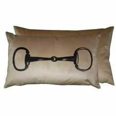 Snaffle Cushion in Mocha