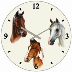Horse Portraits Clock