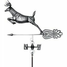 3D Stag Weathervane with Garden Stake